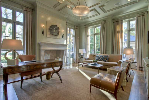4 9 million french inspired mansion in atlanta ga with for Living room with 9 foot ceilings