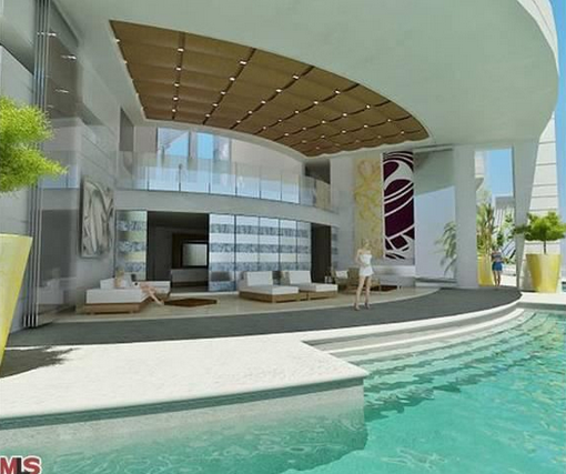 Los Angeles California Rich Houses: $45 Million 20,000 Square Foot Contemporary Mansion Being