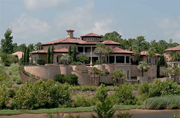 This Mediterranean Style Riverfront Mansion Is Located At 1681 Serena Drive In Myrtle Bach Sc And On 8 Acres Of Land