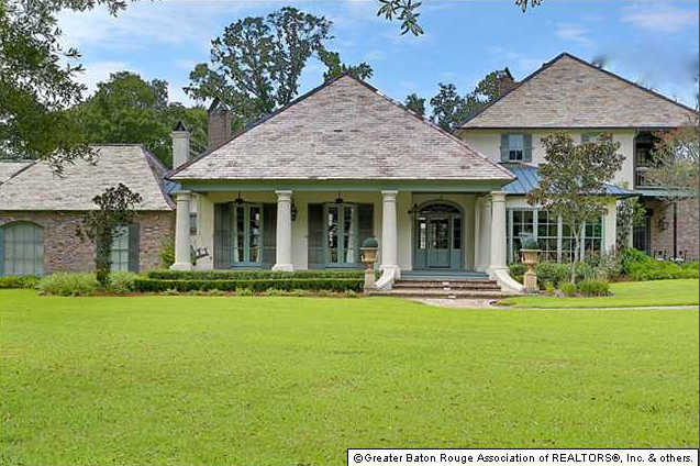 Million southern country style mansion in baton rouge la homes of the rich the 1 for Homes for sale in baton rouge with swimming pools