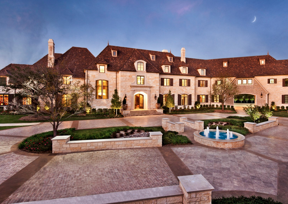 25 000 square foot dallas mega mansion on the market for for Big mansion homes for sale