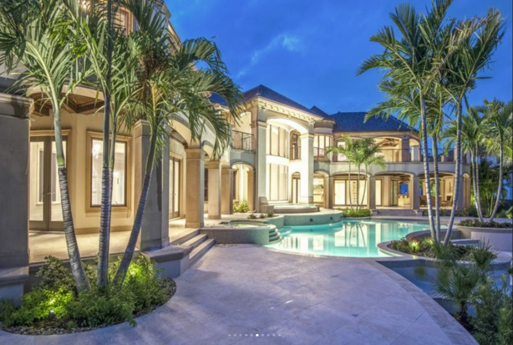 12 9 Million Newly Built Waterfront Mansion In Naples Fl