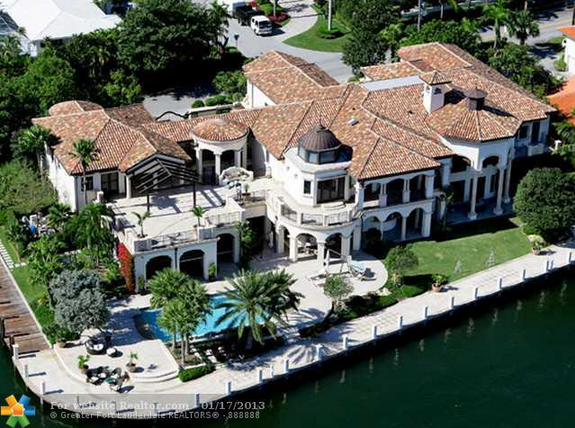23,000 Square Foot Mediterranean Waterfront Mansion In Fort Lauderdale, FL