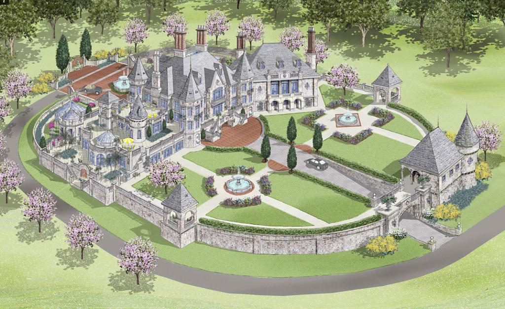 Lavish european castle design by d alessio inspired for Castle design