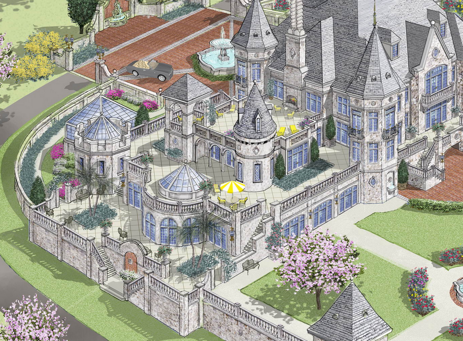 Lavish European Castle Design By D Alessio Inspired