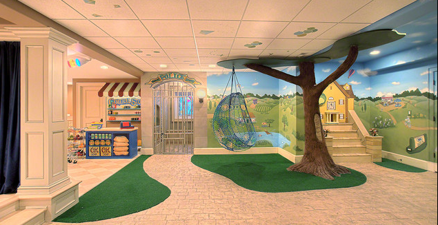 A look at some children s playrooms from homes for Kids play rooms