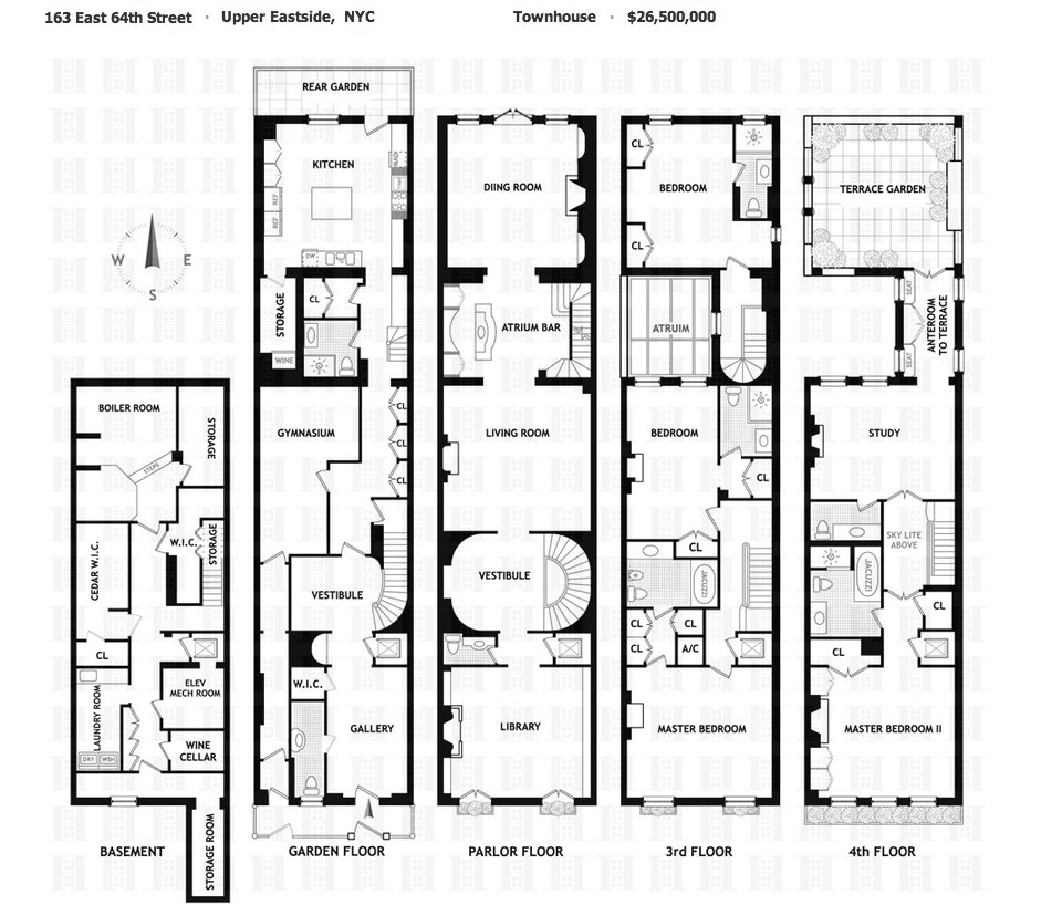 new york townhouse floor plans.  26 5 Million Floor Townhouse In New York NY Homes of the Rich