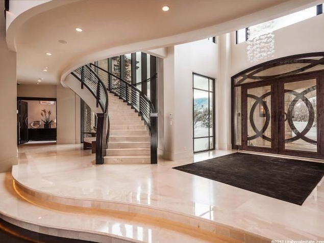 Foyer Stairs Utah : Luxurious square foot mansion in holladay ut