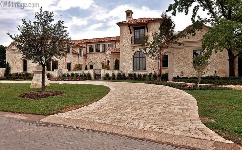 10 500 square foot mediterranean stone mansion in a gated for Mediterranean stone houses