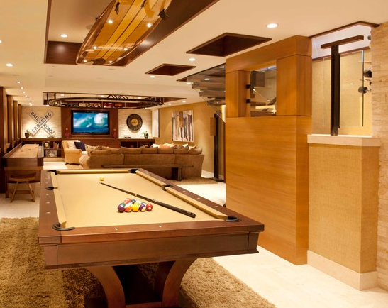 A Look At Some Billiards Rooms From Houzz.com