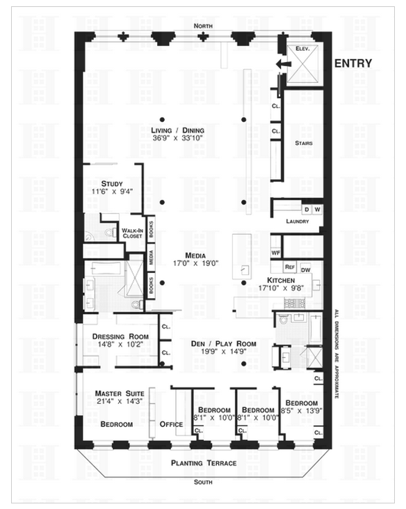 4 000 square foot loft in tribeca homes of the rich 4000 sq ft office plan