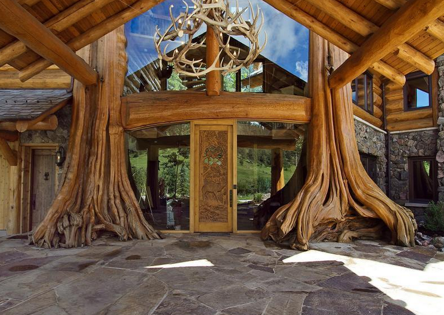 10 million log estate in loveland co homes of the rich for Building a house in colorado