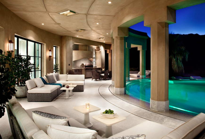 Casbah cove a moroccan style masterpiece in palm desert for Rich homes in california