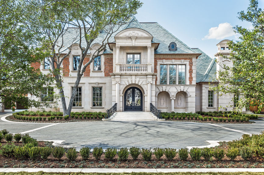 19 000 square foot french inspired new build in dallas tx for Mansions in dallas tx