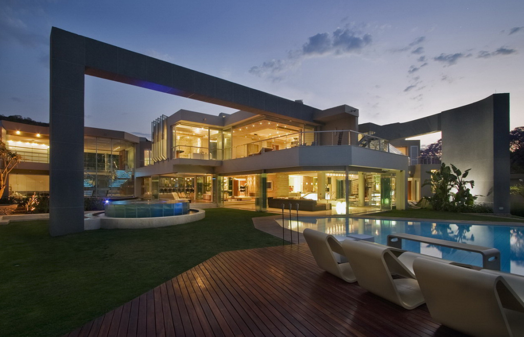 Glass house a 27 000 square foot modern mega mansion in for Glass houses for sale in california