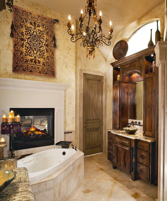 Nothing Makes A Bathroom More Relaxing And Cozier Than A Fireplace. These  Bathrooms All Boast Different Style Fireplaces Near The Bathtub, Which  Allows For ...