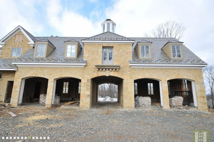 Newly built french country stone mansion in basking ridge for Stone french country homes