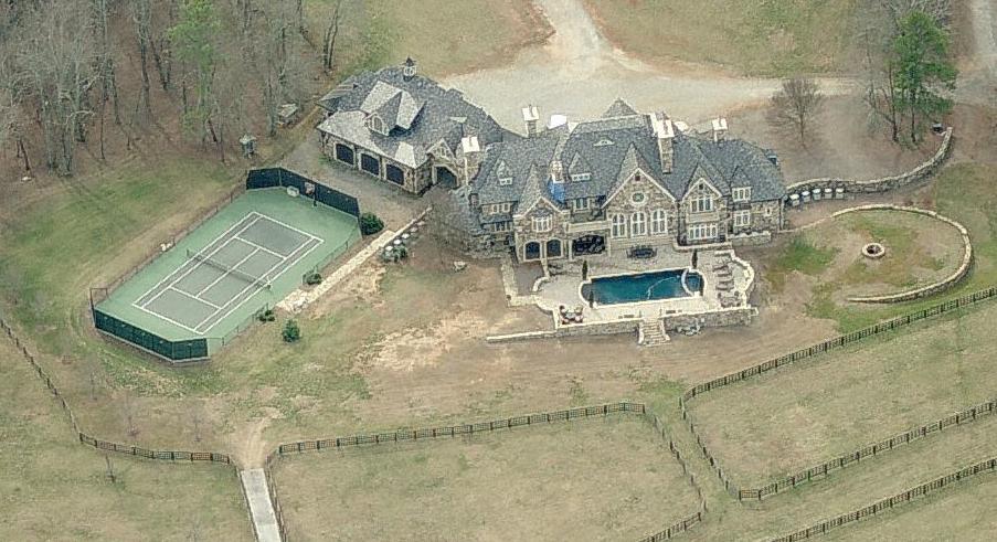 $5.5 Million European Inspired Stone Mansion In Cumming, GA Set On 18 Acres