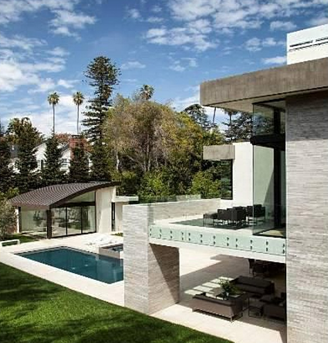 Los Angeles California Houses: $13.5 Million Newly Built Modern Mansion In Los Angeles