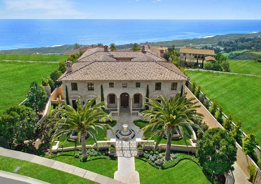 22 8 million mediterranean new build in newport coast ca for Rich homes in california