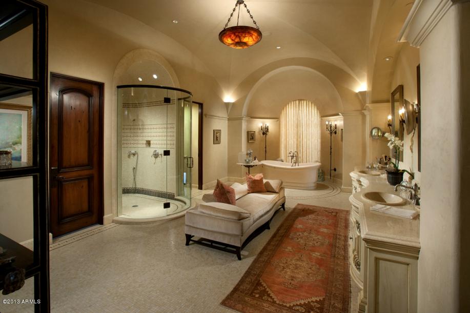 Bathroom Of Mediterranean Style Homes: $13.9 Million Spanish Style Mansion In Scottsdale, AZ
