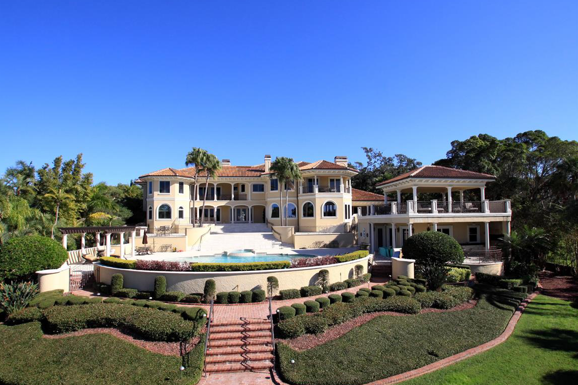 12 9 million mediterranean waterfront mansion in