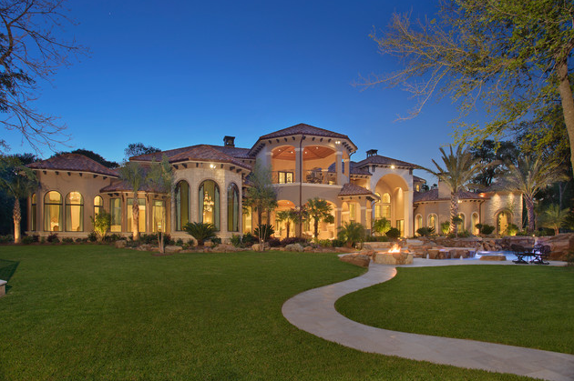 Stunning mediterranean mansion in houston tx homes of for Castle style homes for sale