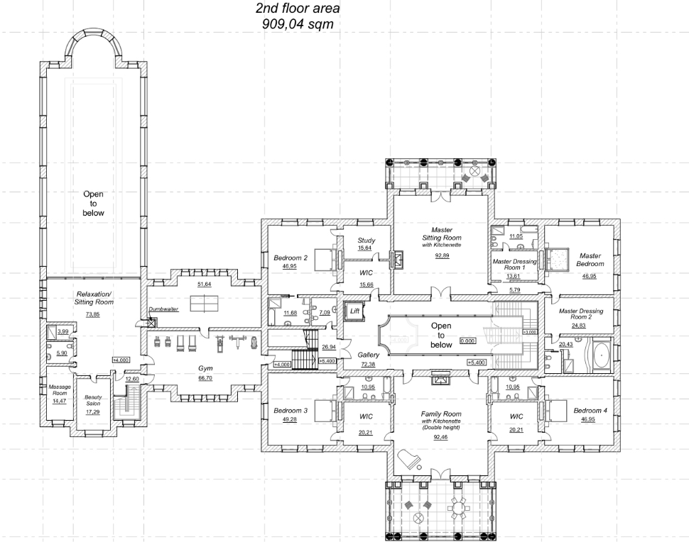 A homes of the rich reader s 42 000 square foot mega for Mega mansion floor plans
