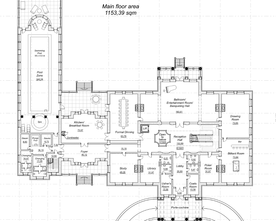 Mega Mansion House Plans a homes of the rich reader's 42,000 square foot mega mansion