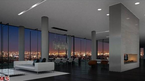 25 000 square foot penthouse in los angeles on the market for Living room 6250 hollywood blvd