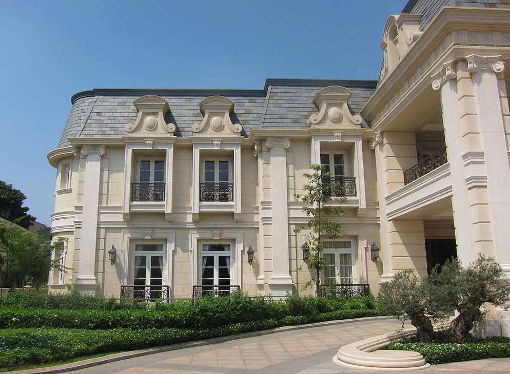 A stunning french chateau inspired mega mansion in for Classic house builders