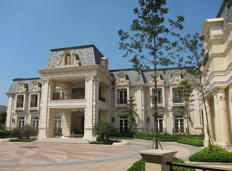 A stunning french chateau inspired mega mansion in for French chateau style homes for sale