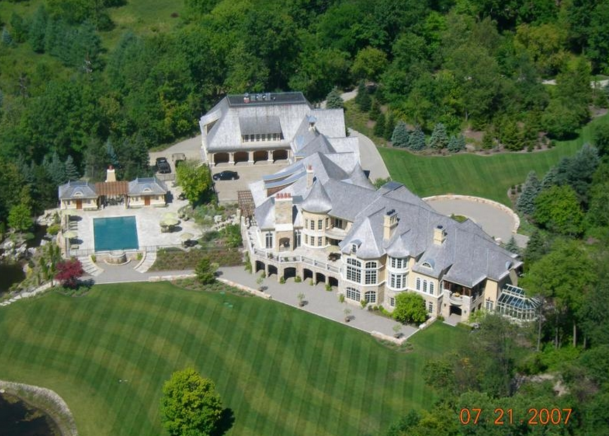 32 000 Square Foot European Inspired Mega Mansion In: house builders in michigan