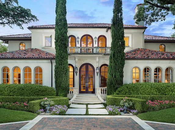 6 4 Million Mediterranean Home In Highland Park Tx