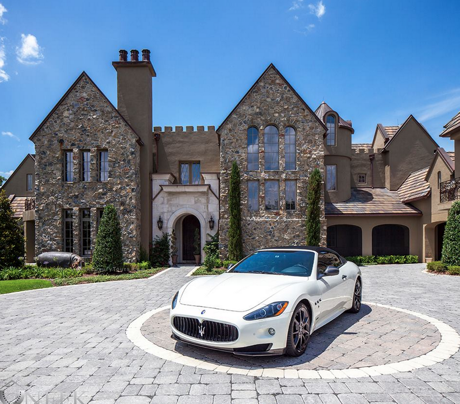 Castle Point Apartments: $8.9 Million European Inspired Stone Mansion In Windermere