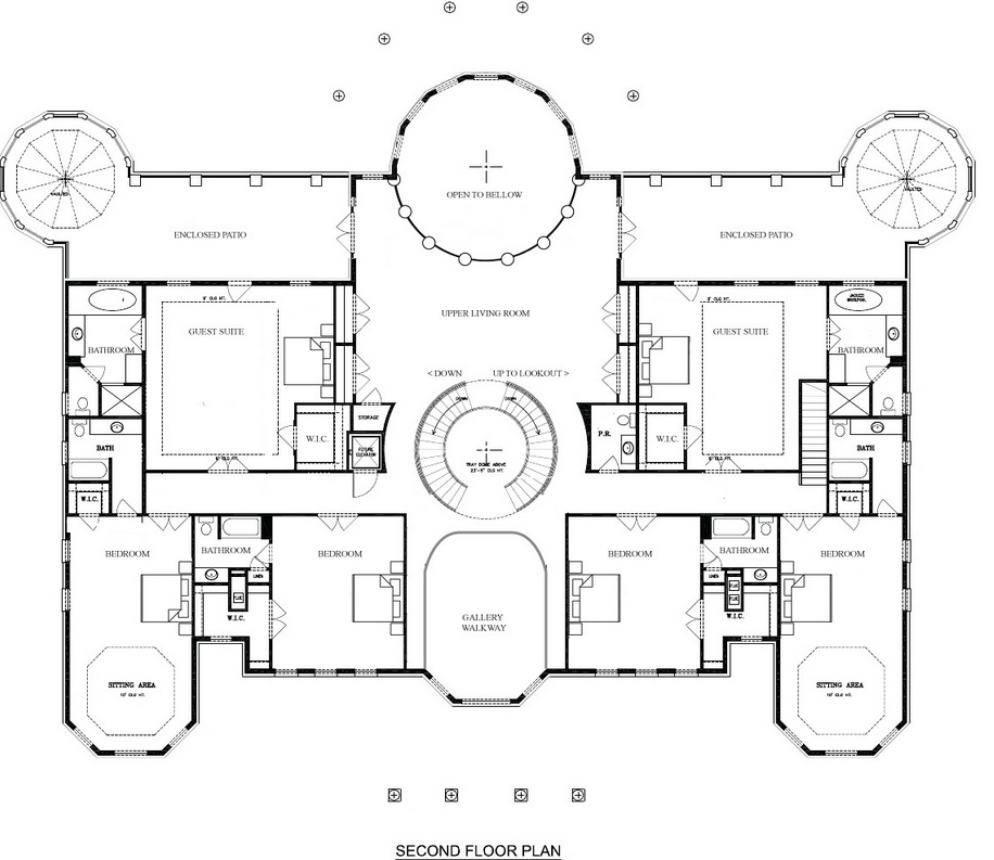Floor Plans Of Mansions | A Hotr Reader S Revised Floor Plans To A 17 000 Square Foot Mansion