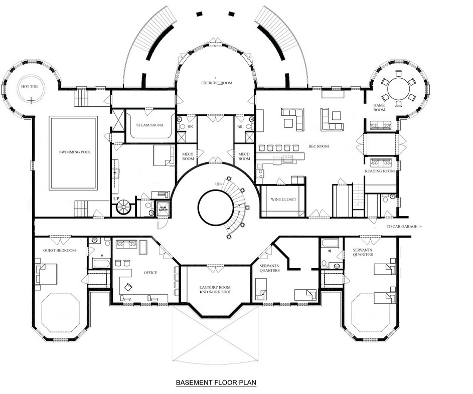 A hotr reader s revised floor plans to a 17 000 square for Floor plans for luxury mansions