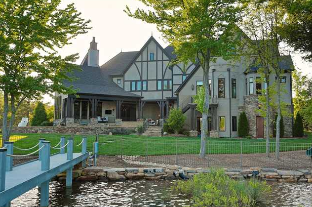13,000 Square Foot Lakefront Tudor Mansion In Mooresville, NC