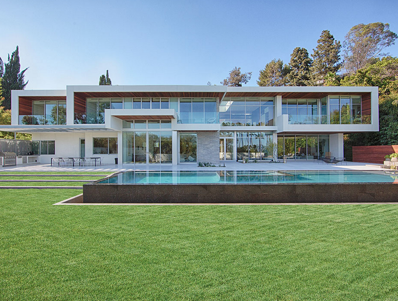 28 8 million newly built modern estate in los angeles ca for Modern estate homes