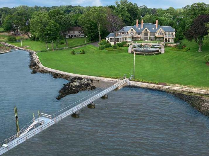 $30 Million Waterfront Stone Mansion In Darien, CT