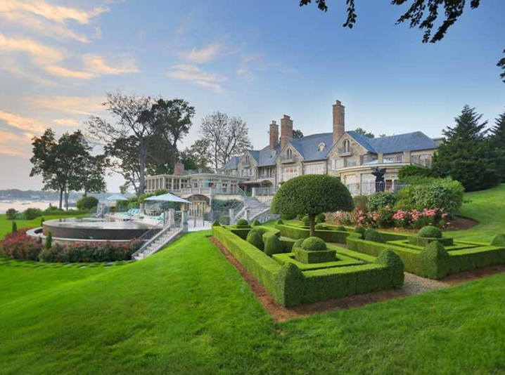 30 Million Waterfront Stone Mansion In Darien Ct Homes