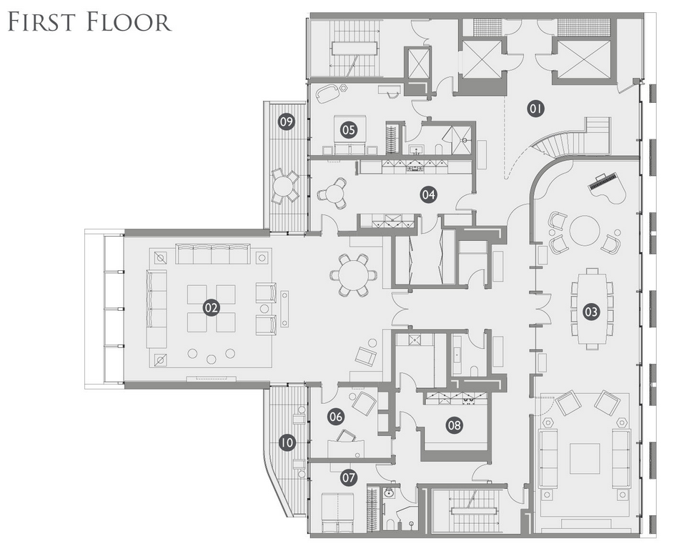 2 story candy candy designed apartment in london for Apartment floor plans london