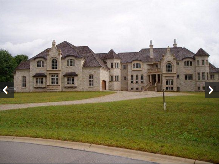 23 000 square foot unfinished mega mansion in oneida wi for Mega homes for sale