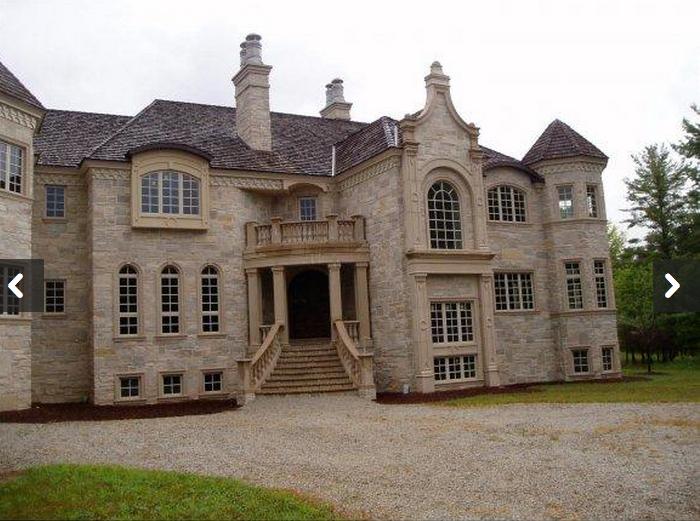 23 000 square foot unfinished mega mansion in oneida wi for Mega mansion for sale