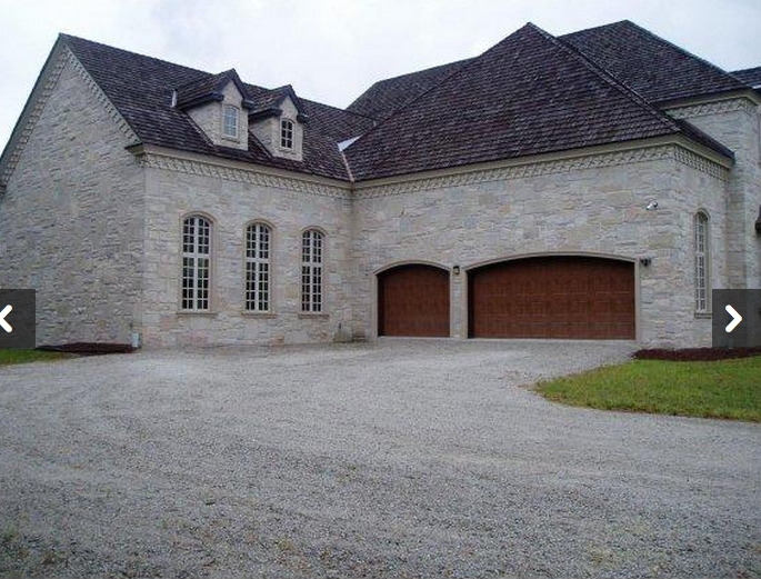 23 000 square foot unfinished mega mansion in oneida wi for Sport court cost per square foot