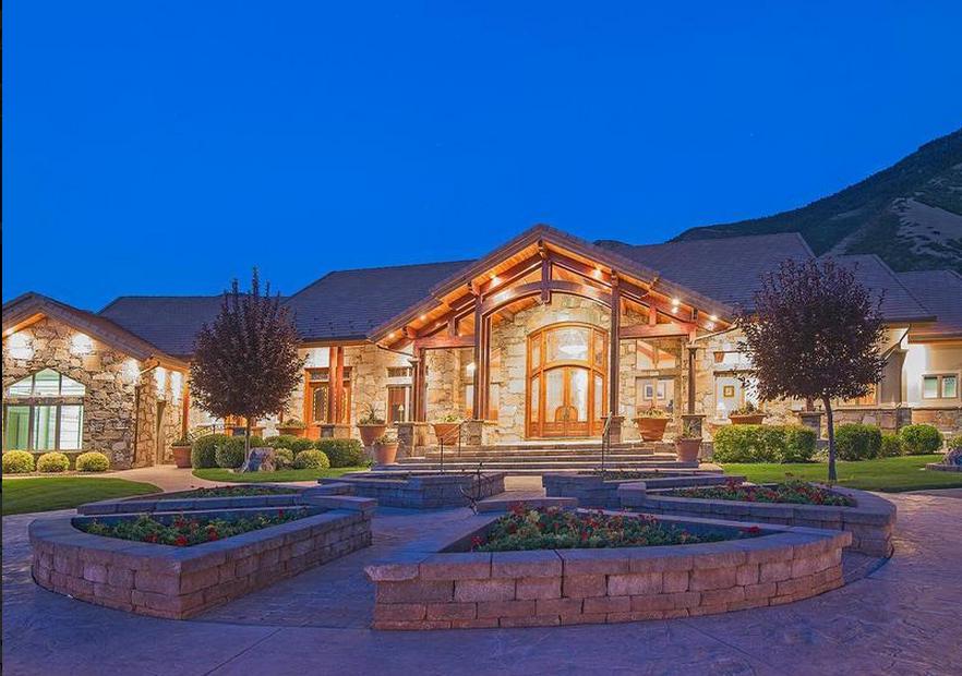 20 000 square foot estate in mapleton utah homes of the for Mapleton homes