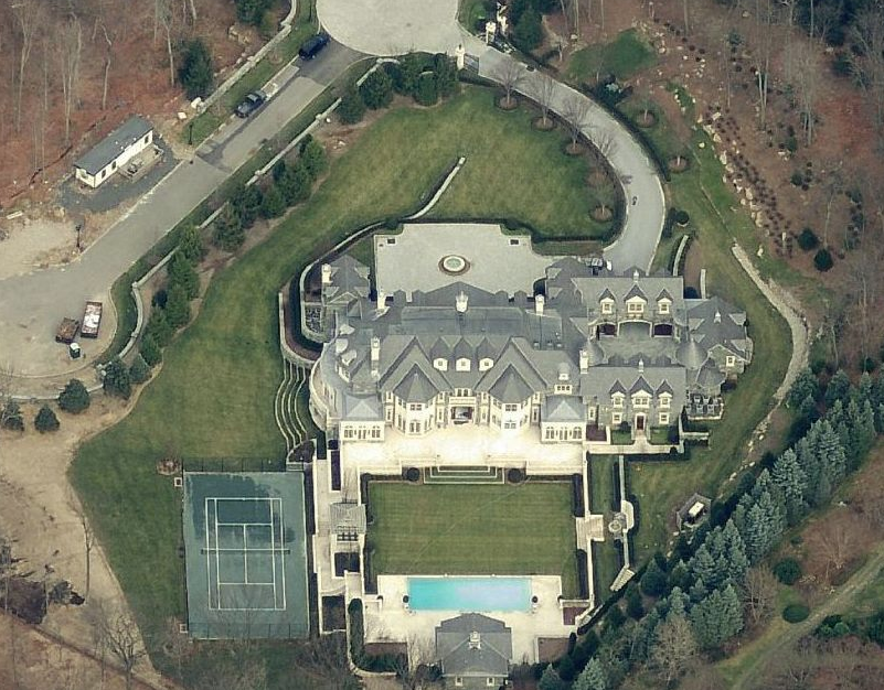Updated Aerial Pics Of The Stone Mansion In Alpine NJ HOTR