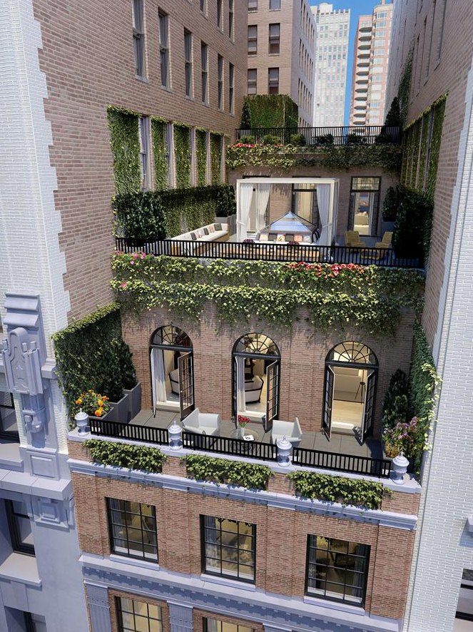 The 25 million duplex penthouse at the whitman in new for Floor plans manhattan apartment buildings