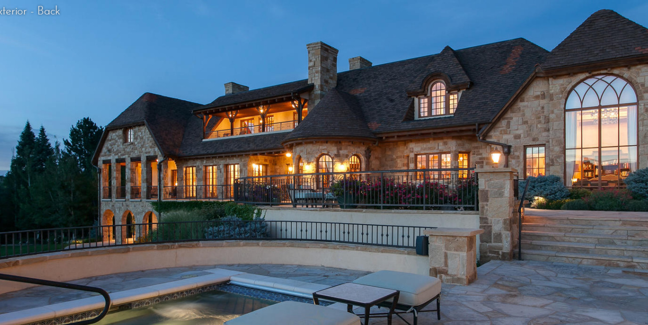 21,000 Square Foot Stone Mansion In Cherry Hills Village, CO
