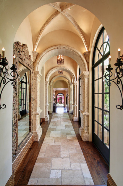 Look Some Groin Vaulted Hallways From Houzz Homes The Rich